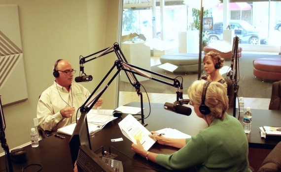 Paul Katchadourian being interview on the radio about mold, lead, and asbestos exposure and remediation.
